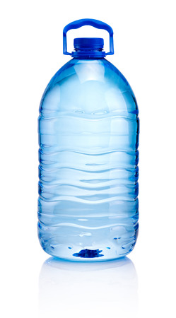 Big plastic bottle of drinking water isolated on white background Stock Photo