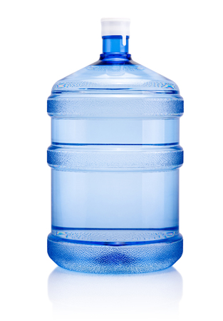 Big plastic bottle drinking water isolated on a white background