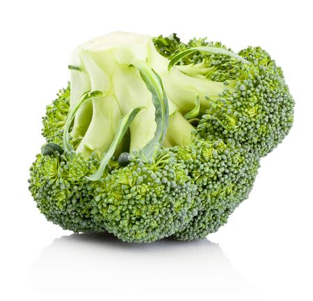 Fresh broccoli isolated on a white background Banco de Imagens