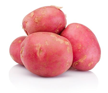 New red potato isolated on a white background