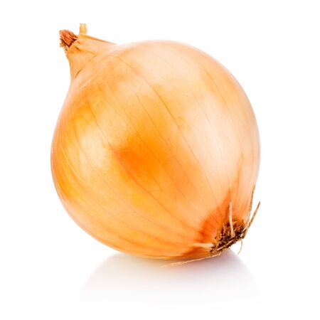 Onion bulb isolated on a white background
