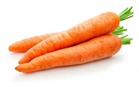 Fresh carrots isolated on a white background Stockfoto