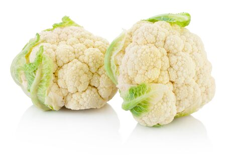Cauliflower isolated on a white background