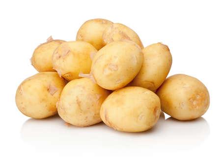 Potato tubers isolated on a white background Standard-Bild