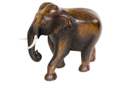 afrique éléphan sur blanc
