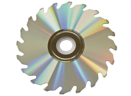 megabyte: A compact disk in the shape of a saw blade