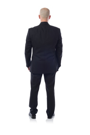 man back view: man in suit viewed from behind Stock Photo