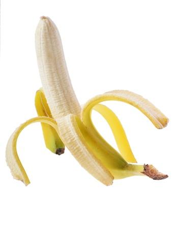 Open banana isolated on white background Stock Photo - 16759536