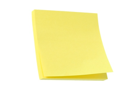 post it note: Yellow post it note pad isolated on white Stock Photo