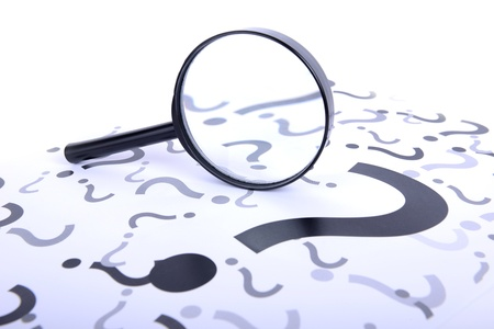 a magnifying glass searching for the question