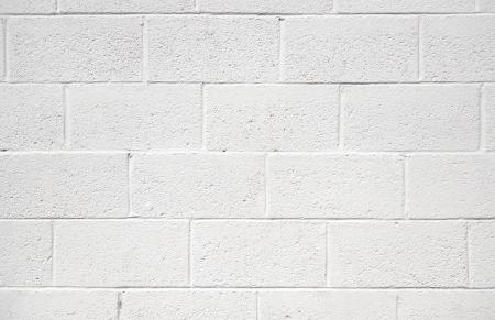 bloque de hormigon: pintado de blanco muro de bloques de hormig�n de textura de fondo