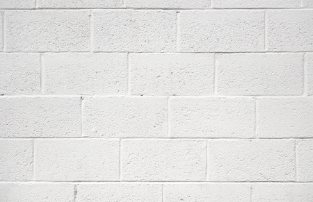 white painted concrete block wall background texture photo