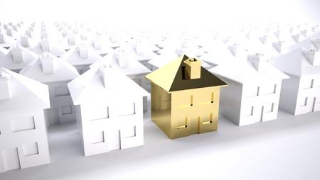 housing search: Concetto di scelta casa purfect o di sviluppo immobiliare