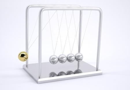 oscillation: Metal pendulum
