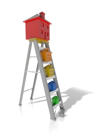 property ladder: Concept of moving up the property ladder