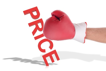 Concept of knock down prices sale Stock Photo - 21457642