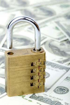 accessing: concept of accessing money bank loan Stock Photo