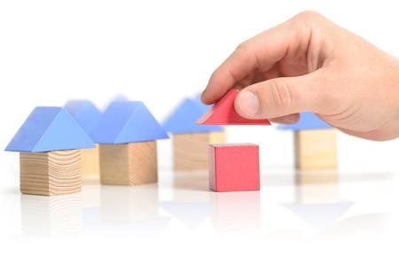 Concept of building development idea house photo