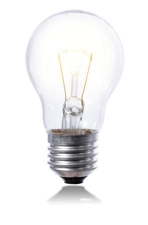 iluminated: bombilla aislada en un fondo de la pizca con el elemento poco iluminados