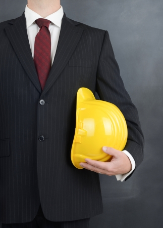 professional worker with saftey helmet ready for work Stock Photo - 22587414