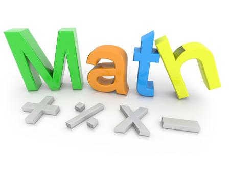 simbolos matematicos: Texto de matem�ticas con s�mbolos matem�ticos aislado en un fondo blanco