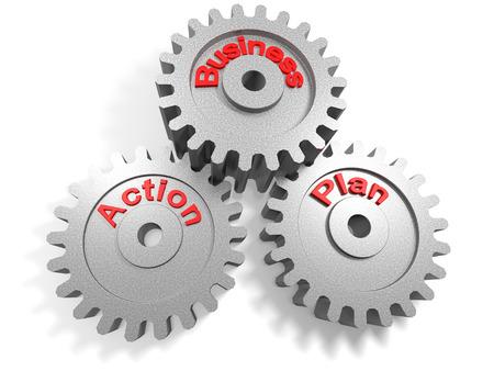 plan de accion: concepto para trabajar juntos por un plan de acci�n comercial Foto de archivo