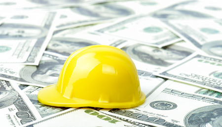 yellow helmet: Caoncept of success in construction