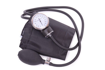 sphygmomanometer: Sphygmomanometer isolated on a white background