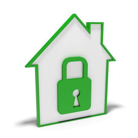 concept of house security photo