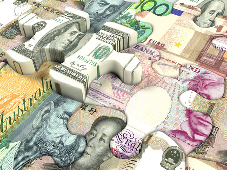 us paper currency: Concept background for exchange rate of world currency  Stock Photo
