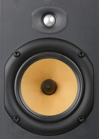 high end: close up of A high end audio speaker  Stock Photo