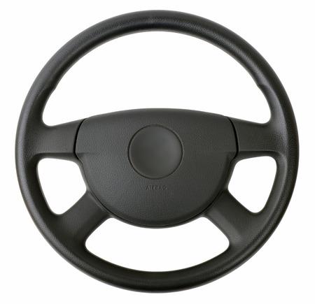 steering wheel isolated on white  Archivio Fotografico