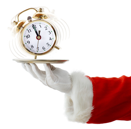 running out of time: Time is running out for Christmas Stock Photo