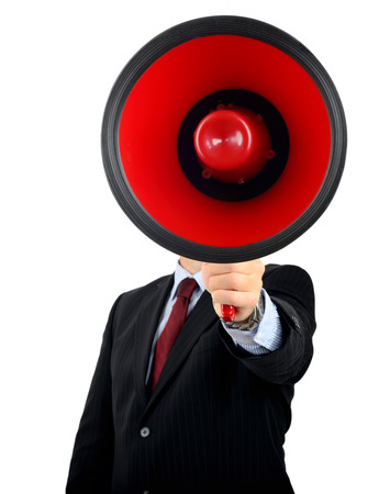 Make yourself heard with a very large megaphone photo