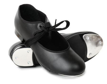 grifos: Un par de zapatos de baile tap aislado en blanco