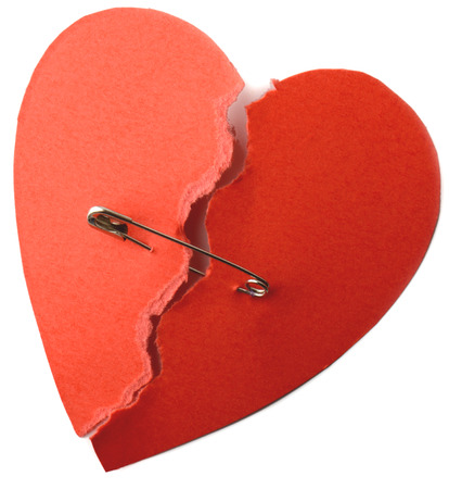 repaired: symbol for repaired heart for love or health Stock Photo