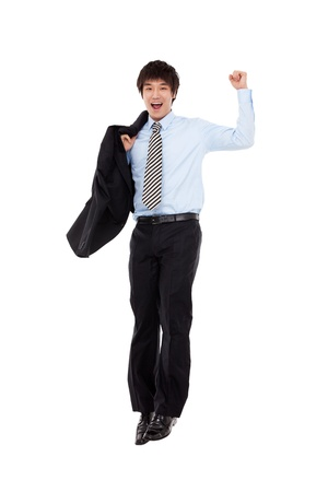 Jumping business man Stock Photo - 13429238