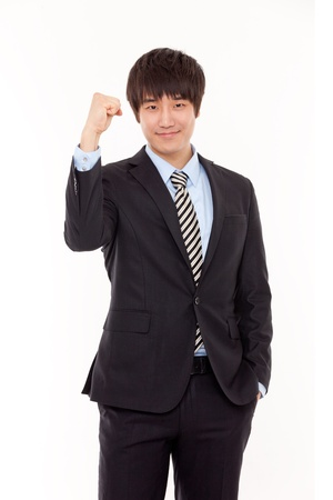 Happy young Asian business man Stock Photo - 13689452