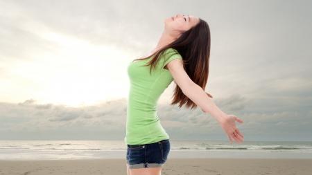 Happy woman enjoy vacation Stock Photo - 14022268