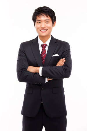 Asian young business man isolated on white background  Stock Photo