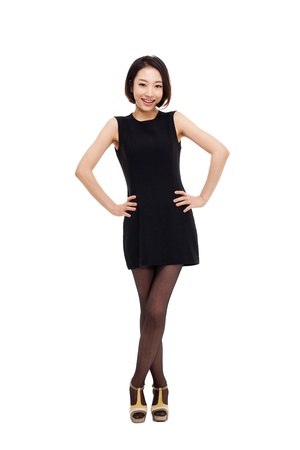 yong: Yong pretty Asian business woman isolated on white background  Stock Photo