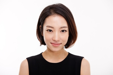 Young Asian pretty business woman close up portrait   Stock Photo