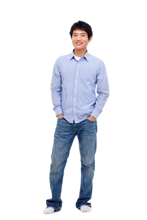 Young Asian man isolated on white background  photo