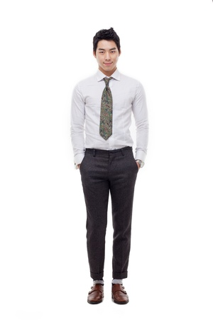 Young Asian business man isolated on white background. Stock Photo - 17662290