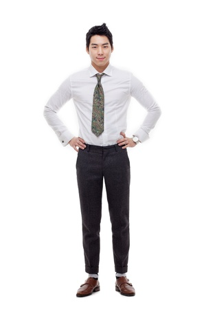 Young Asian business man isolated on white background. Stock Photo - 17662293