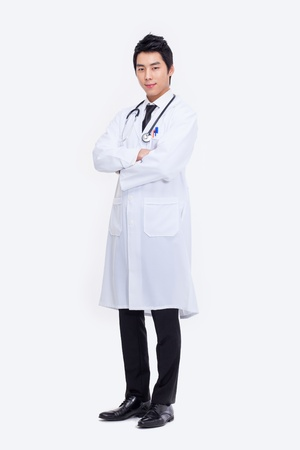 Young Asian doctor isolated on white background.  Stock Photo - 18820893