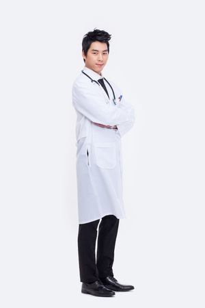 Young Asian doctor isolated on white background.  Stock Photo - 18820875
