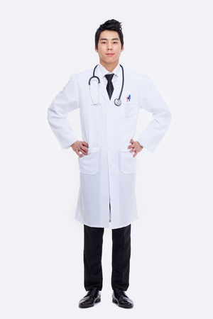 Young Asian doctor isolated on white background. Stock Photo - 18820877