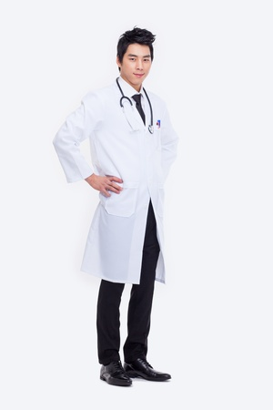 Young Asian doctor isolated on white background. Stock Photo - 18820890