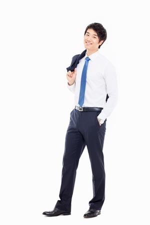 Young Asian business man isolated on white background. photo